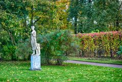 The Dancer Sculpture in The Catherine Park. Pushkin. St. Petersburg Royalty Free Stock Image
