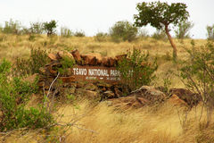 Tsavo National Park Sign Stock Photos