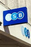 TSB Bank sign. Swansea, Wales, UK, June 30, 2018: TSB Bank sign at there retail financial services branch in Union Street stock photo