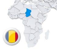 Tschad auf Afrika-Karte vektor abbildung