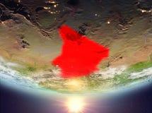 Tschad mit Sonne lizenzfreies stockfoto
