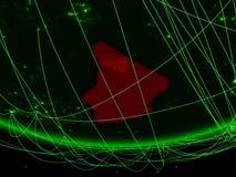 Tschad vom Raum mit Netz stockbilder