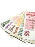 Tschechische Banknoten lizenzfreies stockbild