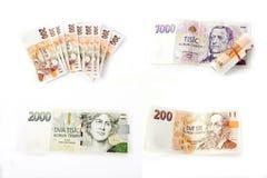 Tschechische Banknoten Lizenzfreie Stockbilder