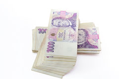 Tschechische Banknoten Stockbild