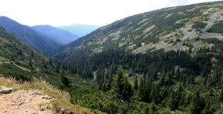 Tschechische Berge stockbild
