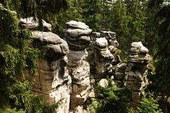 Tschechische Felsenstadt Stockbild