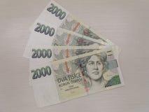 2000 tschechische Korunabanknoten Stockbild