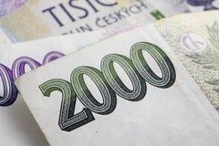 Tschechische Korunas Lizenzfreies Stockbild