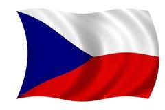 Tschechische Markierungsfahne Stockfoto