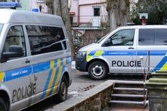 Tschechische Polizei Stockfotos