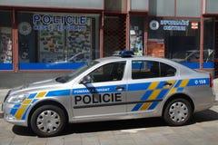Tschechische Polizei Motor- Skoda Octavia Lizenzfreie Stockfotografie