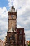 Tschechische Republik-altes Rathaus von der Seite Stockbilder