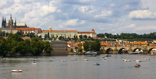 Tschechische Republik Charles Bridge Prags Stockbild