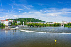 Tschechische Republik der Fluss-Moldaus Prag Lizenzfreie Stockfotos