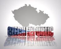 Tschechische Republik des Wortes Stockfotografie