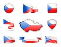 Tschechische Republik kennzeichnet Sammlung Vektor Abbildung