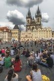 Tschechische Republik prag Alter Rathausplatz Lizenzfreie Stockfotos