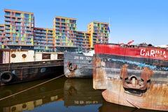 TSCHECHISCHE REPUBLIK, PRAG - 1. AUGUST 2012: Prag-Jachthafen, Hafen Hol Stockfoto