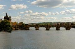 Tschechische Republik, Prag, Carlos Bridge Lizenzfreie Stockfotos