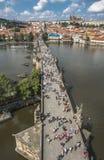 Tschechische Republik prag Charles Bridge Lizenzfreie Stockfotografie