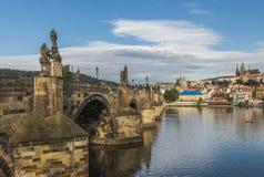 Tschechische Republik prag Charles Bridge Lizenzfreies Stockfoto