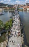 Tschechische Republik prag Charles Bridge Lizenzfreie Stockbilder