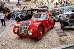 Tschechische Republik prag Nationales technisches Museum Retro- Automobil 11. Juni 2016 Lizenzfreie Stockbilder