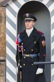 TSCHECHISCHE REPUBLIK, PRAG - 2. OKTOBER 2017: Bei dem Mittag 12 möglich, eine spezielle Zeremonie während des Änderns von aufzup Stockfoto