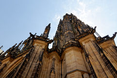 Tschechische Republik, Prag St. Vitus Cathedral, Wenceslas und Adalbert - die Stadtkathedrale in der gotischen Art Lizenzfreie Stockfotografie