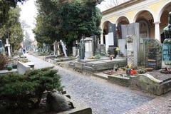 Tschechische Republik prag Vysehrad-Kirchhof und Basilika von St Peter und von St Paul stockfotografie