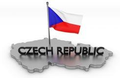 Tschechische Republik-Tribut lizenzfreie abbildung