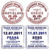 Tschechische Republik und Slowakei Stock Abbildung