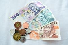 Tschechische Währung, Koruna Lizenzfreie Stockfotos