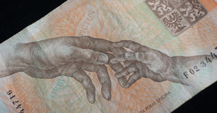 Tschechischer Anmerkungsabschluß oben lizenzfreie stockfotografie