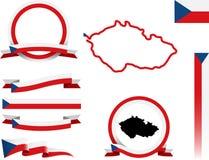 Tschechischer Fahnen-Satz Stockbilder