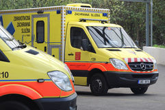 Tschechischer Krankenwagen Stockfotografie