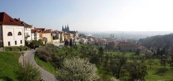 Tschechisches altes panoramisches Lizenzfreies Stockfoto