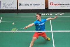 Tschechisches Badminton - Adam Mendrek Stockbild