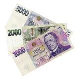 Tschechisches Bargeld Lizenzfreie Stockfotografie