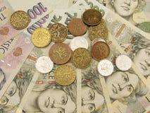 Tschechisches Bargeld Lizenzfreies Stockfoto