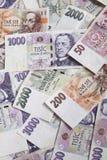 Tschechisches Geld Stockfotografie