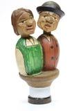 Tschechoslowakische handgemachte hölzerne Zahl Spielzeug Stockfotos