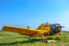 Tschechoslowakische landwirtschaftliche Flugzeuge stockfoto