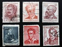 Tschechoslowakische Stempel Lizenzfreies Stockbild