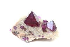 Tschermikit (look like amethyst) mineral Stock Image
