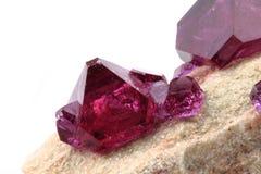 Tschermikit (mineral look like amethyst) Stock Photo