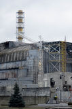 Tschornobyl, UKRAINE - 14. Dezember 2015: Atomkraftwerk Tschornobyls Stockfotografie