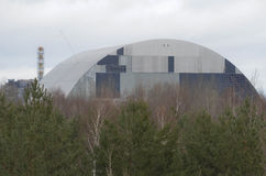 Tschornobyl, UKRAINE - 14. Dezember 2015: Atomkraftwerk Tschornobyls Lizenzfreies Stockbild