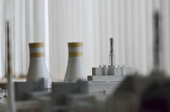 Tschornobyl, UKRAINE - 14. Dezember 2015: Atomkraftwerk Tschornobyls Lizenzfreie Stockfotos